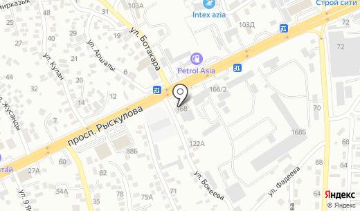 Конкорд Лидер. Схема проезда в Алматы