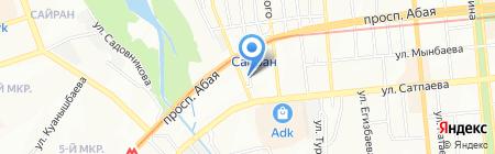 Аспан продуктовый магазин на карте Алматы