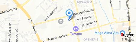 Мирас продуктовый магазин на карте Алматы