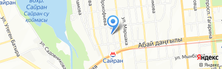 А-Моторс на карте Алматы