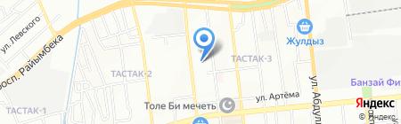 Тастак продовольственный магазин на карте Алматы