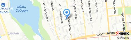 Маленькая Принцесса на карте Алматы