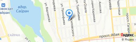 Кулинария на ул. Брусиловского на карте Алматы