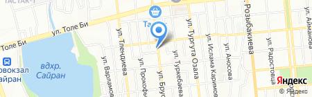 Магазин сухих строительных смесей на карте Алматы