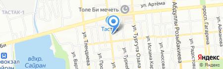 Эдиге на карте Алматы