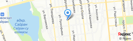 Орен на карте Алматы