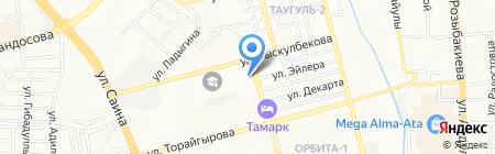 Тропинка на карте Алматы
