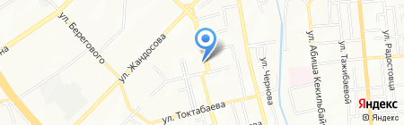 Продовольственный магазин на ул. Сулейменова на карте Алматы