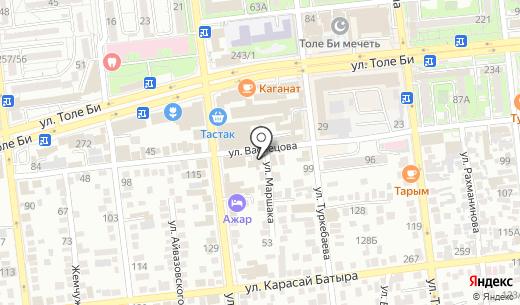 SV Standart. Схема проезда в Алматы