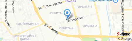Орбита-3 на карте Алматы