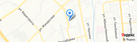 Ергали на карте Алматы