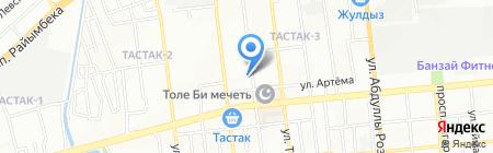Акатай на карте Алматы