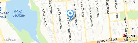 Магазин строительных материалов на ул. Брусиловского на карте Алматы