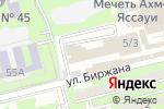 Схема проезда до компании Animeshop в Алматы