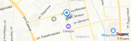 Шономонтажная на ул. Мустафина на карте Алматы
