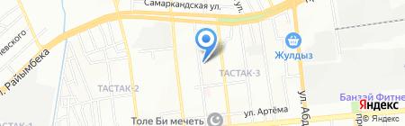 Рауан на карте Алматы
