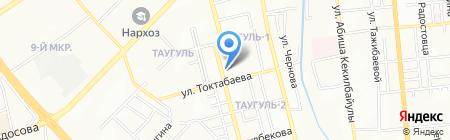 Ясмин на карте Алматы