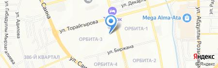 Модель-М на карте Алматы
