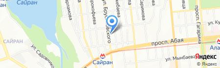 Продуктовый магазин на ул. Брусиловского на карте Алматы