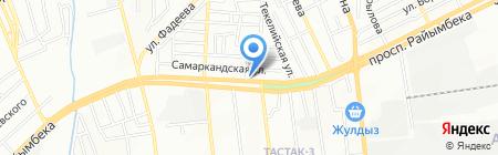 К и Т на карте Алматы