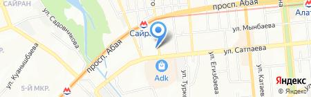 Юкен на карте Алматы