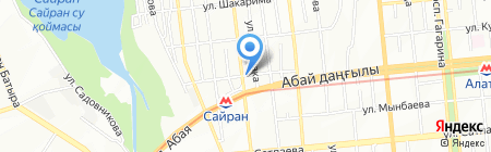 Адан и Сая на карте Алматы