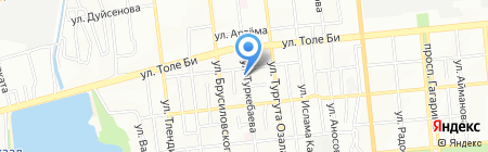 Овощной магазин на ул. Туркебаева на карте Алматы