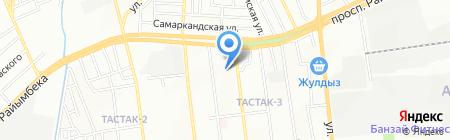Общеобразовательная школа №167 на карте Алматы