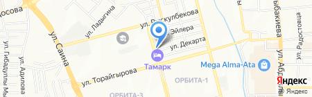 Парикмахерская на ул. Декарта на карте Алматы