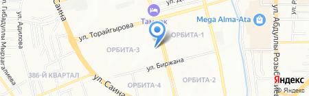 Малина на карте Алматы
