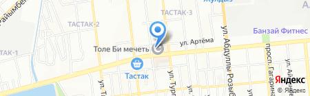 Текемет на карте Алматы