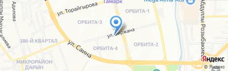 Эконом на карте Алматы