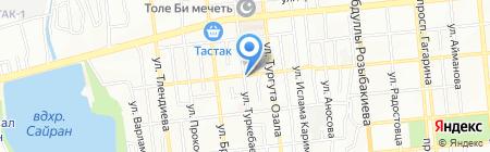 Божбан на карте Алматы