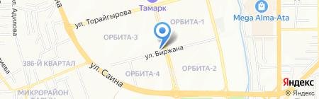 Агидель на карте Алматы