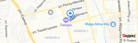 Алина на карте Алматы
