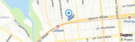 Наш уютный чистый дом на карте Алматы