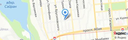 Продовольственный магазин на ул. Туркебаева на карте Алматы