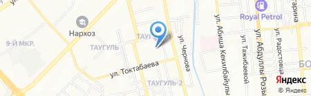 Школьник на карте Алматы