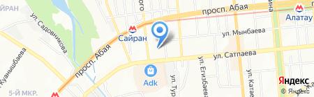 Школа-гимназия №140 на карте Алматы