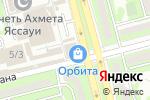 Схема проезда до компании MobiSoft в Алматы