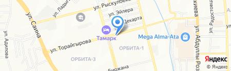 Магазин овощей и фруктов ну ул. Орбита 1-й микрорайон на карте Алматы