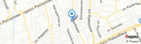 Намик на карте Алматы