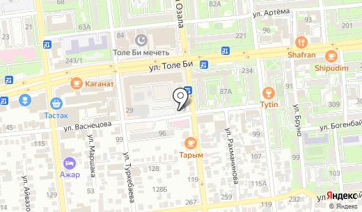 АБР-Ломбард ТОО. Схема проезда в Алматы