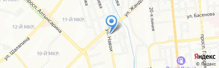 Тонировка на Навои на карте Алматы