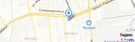 Казык на карте Алматы