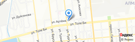 Шебер на карте Алматы