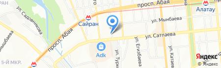 Абзал продуктовый магазин на карте Алматы