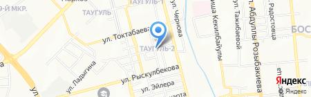 Парикмахерская на ул. Черепанова на карте Алматы