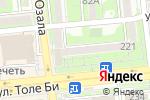 Схема проезда до компании Buana в Алматы