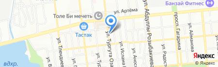 Продовольственный магазин на ул. Тургут Озала на карте Алматы